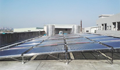 龙门养生沐足---太阳能热水器工程