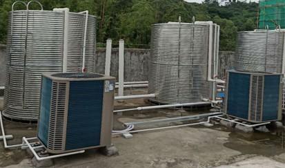 东莞青华学校---空气能热水器系统