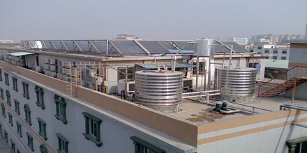 深圳南福休闲公寓---太阳能热水器工程